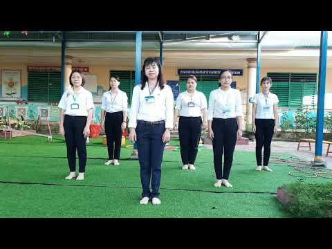 video Thể dục giữa giờ của đơn vị mẫu giáo Phú Xuân