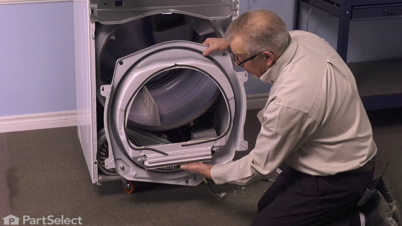 Replacing your Whirlpool Dryer Drum Support Roller Shaft - Right Hand Threads