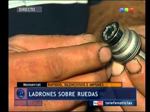 Tuercas de seguridad para evitar el robo de ruedas - Telefe Noticias