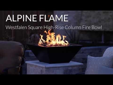 Alpine Flame Westfalen High-Rise Column Fire Bowl-Oil Rubbed Bronze