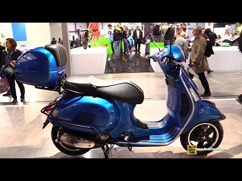 2015 Vespa GTS Super 300 Scooter - Walkaround - 2014 EICMA Milan Motorcycle Exhibition