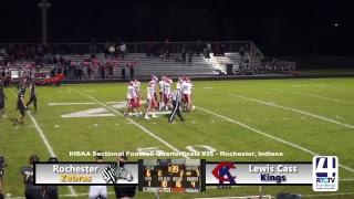 Sectional Football - Rochester vs Lewis Cass