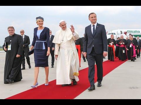 Wizyta papieża Franciszka w Polsce podczas Światowych Dni Młodzieży