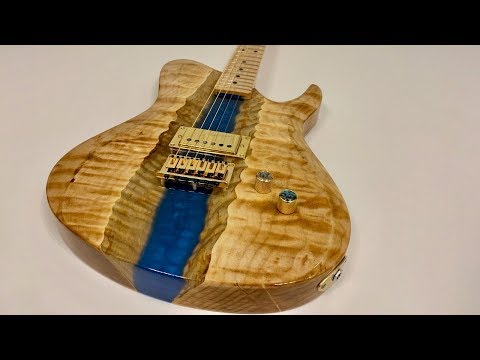I Built an Epoxy Resin River Guitar