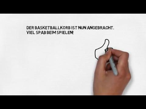Wie befestigt man einen Basketballkorb?
