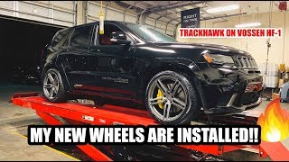 MY TRACKHAWKS NEW WHEELS ARE INSTALLED!