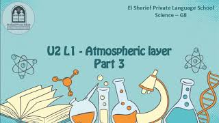 Sci   G8   T1   U2 L1   Atmospheric layer   Part 3