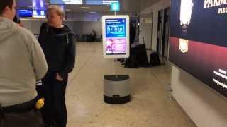 Download Video Robot showing people around Geneva Airport MP3 3GP MP4