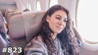 IS EMIRATES REALLY THAT GOOD? FLYING DUBAI AIRPORT TO AMSTERDAM SCHIPHOL DAY 823 | TRAVEL VLOG IV