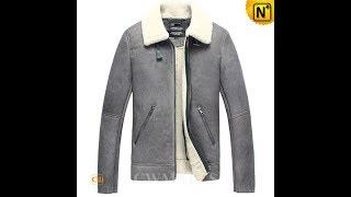 Men Leather Jackets | CWMALLS® Reykjavik Sheepskin Aviator Jacket CW808065 Patented Design, Custom Made