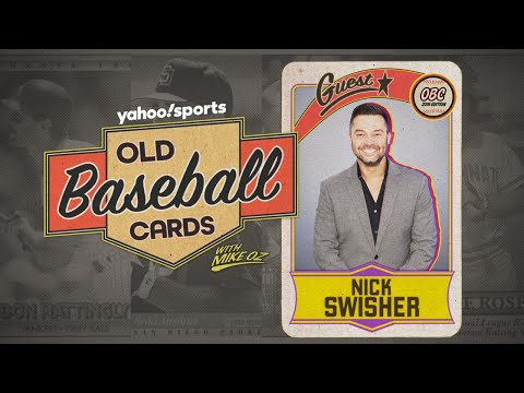 Nick Swisher Tries for His Dad's Card | Old Baseball Cards