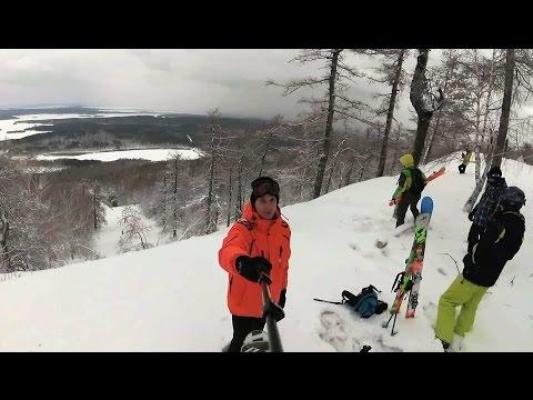 Видео: Видео горнолыжного курорта Вишневая, гора в Челябинская область