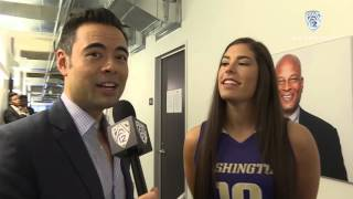 2015 Pac-12 Women's Basketball Media Day: Washington's Neighbors, Plum throw their dubs up