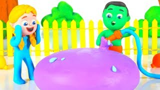 Kids Playing With A Giant Water Balloon ❤ Cartoons For Kids