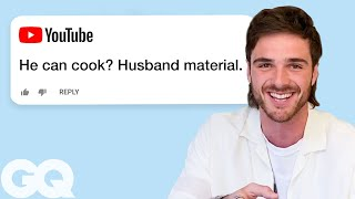 Presented by Dell XPS | On this episode of Actually Me, 'Kissing Booth 2' star Jacob Elordi goes undercover on the Internet and responds to real comments from YouTube, Reddit, Instagram, Twitter, Quora and Wikipedia. Did the show 'Euphoria' make Nate too evil? How tall is he?  Still haven't subscribed to GQ on YouTube? ►► http://bit.ly/2iij5wt Subscribe to GQ magazine and get rare swag: https://bit.ly/2xNBH3i  ABOUT GQ For more than 50 years, GQ has been the premier men's magazine, providing definitive coverage of style, culture, politics and more. In that tradition, GQ's video channel covers every part of a man's life, from entertainment and sports to fashion and grooming advice. So join celebrities from 2 Chainz, Stephen Curry and Channing Tatum to Amy Schumer, Kendall Jenner and Kate Upton for a look at the best in pop culture. Welcome to the modern man's guide to style advice, dating tips, celebrity videos, music, sports and more.  https://www.youtube.com/user/GQVideos  Jacob Elordi Goes Undercover on Reddit, YouTube and Twitter | GQ