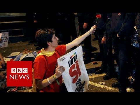 Spain Referendum: 'We just want to vote… that's our right' – BBC News
