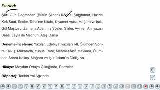Eğitim Vadisi AYT Edebiyat 15.Föy Cumhuriyet Dönemi Şiiri 1 Konu Anlatım Videoları
