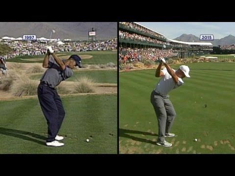 Tiger Woods swing comparison 1997 vs. 2015