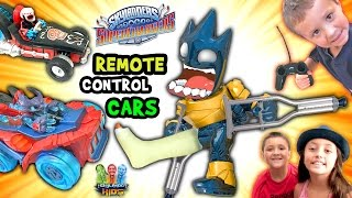 ASTROBLAST BREAKS HIS LEG!  Remote Control Skylanders SuperChargers Cars (Surprise Fun Challenge)