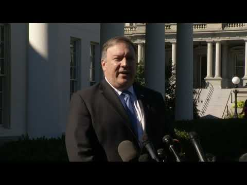 "Secretary of State Mike Pompeo says he told Saudi Arabia's rulers that the U.S. takes ""very seriously"" the disappearance of journalist Jamal Khashoggi. (Oct. 18)"