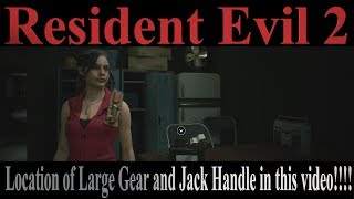 Resident Evil 2 Claire Story B Standard Large Gear and Jack Handle