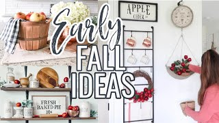 FARMHOUSE FALL HOME DECOR 2020 | DECORATE WITH ME FALL 2020 | EARLY FALL DECORATING