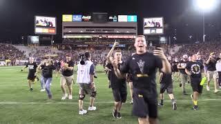 Arizona State Students Rush Field After UW Win