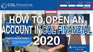 How to OPEN an Account in COL Financial | Updated 2020 | Tagalog