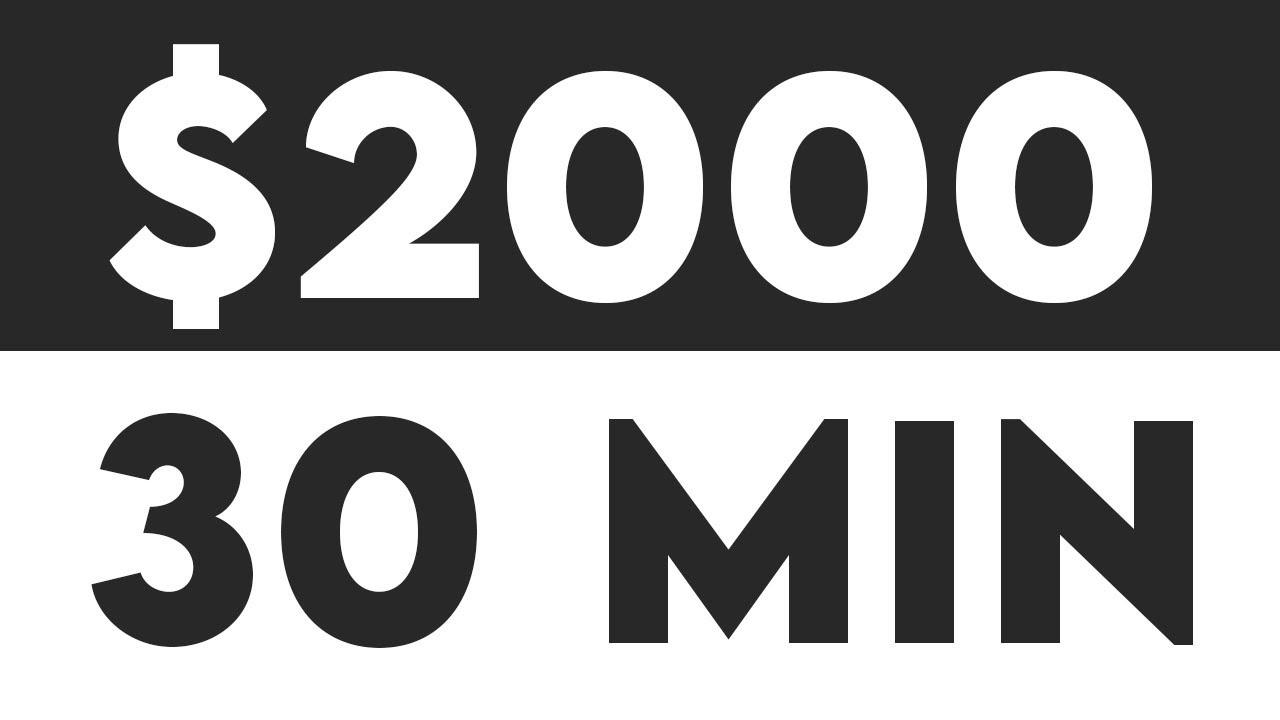 Earn $2,000 Per 30 Min Passive Income For FREE (Make Money Online) thumbnail