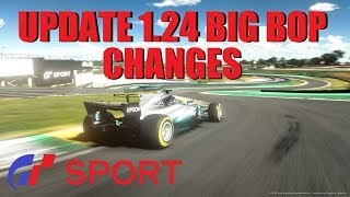 GT Sport Update 1.24 Big BOP Changes & Mercedes F1 Car Fix