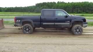 Jacked Up 2004 GMC Duramax Truck Pull