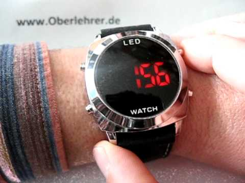 Armbanduhr mit LED-Anzeige