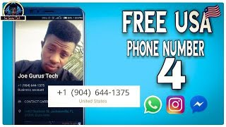 How to Get a Free USA Phone Number for Whatsapp Verification 2021💯