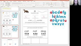 Teaching Kindergarten Reading Sessions Online