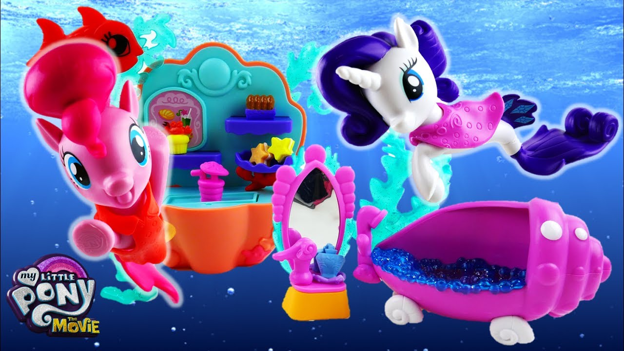 My Little Pony: The Movie Pinkie Pie Seapony Undersea Cafe Rarity Seapony Undersea Spa