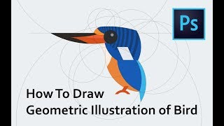 How To Draw Geometric Illustration of Bird - Tutorial Photoshop