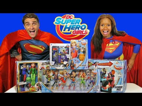 DC Superhero Girls Toy Challenge Supergirl Vs. Superman !  || Toy Review || Konas2002