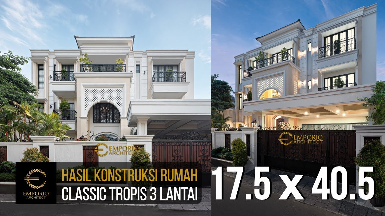 Video Hasil Konstruksi Desain Rumah Classic 3 Lantai Ibu Ines - Jakarta