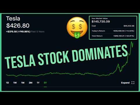Tesla Stock Dominates – Robinhood Investing | Tesla Stock Analysis (TSLA)