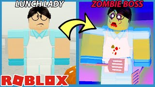 THE LUNCH LADY WAS INFECTED!! - Roblox Field Trip Z New Ending