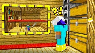 I Built a SECRET Minecraft Base INSIDE his HOUSE?!
