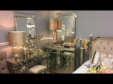 Shop The Look - Athens Gold Mirrored Bedroom Furniture