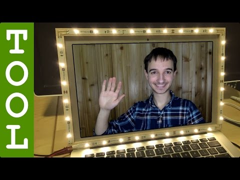 Perfectly Light Your Video Chats With This DIY LED Laptop Frame