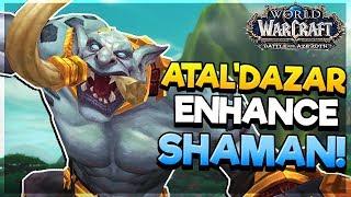 Atal'Dazar DUNGEON as Enhance Shaman - LOGS INCLUDED! - Battle for Azeroth ALPHA