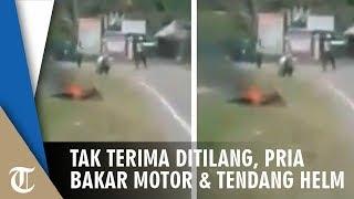 Setelah Video Bongkar Motor, Kini Viral Video Bakar Motor hingga Tendang Helm, Penyebabnya Sama