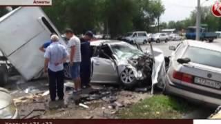Страшное ДТП в Алматы
