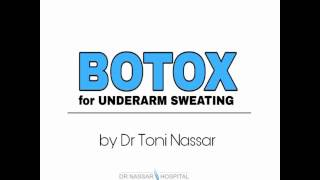 Underarm BOTOX Injections