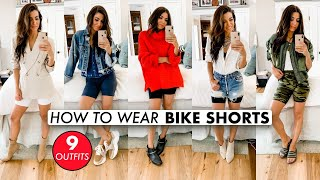 HOW TO STYLE BIKE SHORTS (9 OUTFITS!) -By Orly Shani