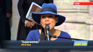 Alicia Keys - Superwoman (Ruby dee Funeral)