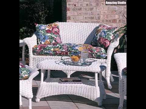 Interessante Moderne Schöne Korbmöbel Weiße Farbe